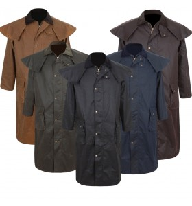 Deluxe Stockman Portmann Long Cape Hoodie Jacket Wax Cotton Trench Coat