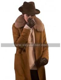 The Gentlemen Michelle Dockery Brown Fur Coat in Wool Material