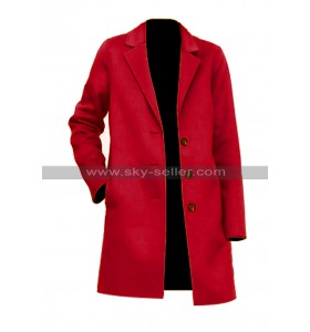 Torrey DeVitto Jessica Write Before Christmas Red Coat