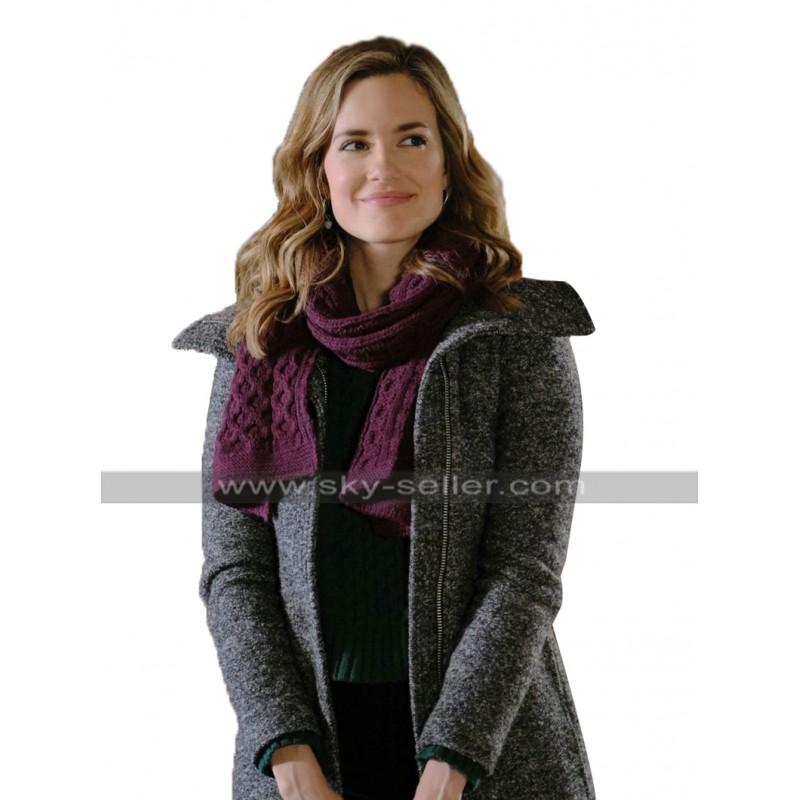 Torrey DeVitto Grey Wool Coat