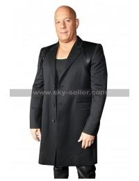 Vin Diesel Bloodshot Movie Premiere Black Coat in Wool and Cotton