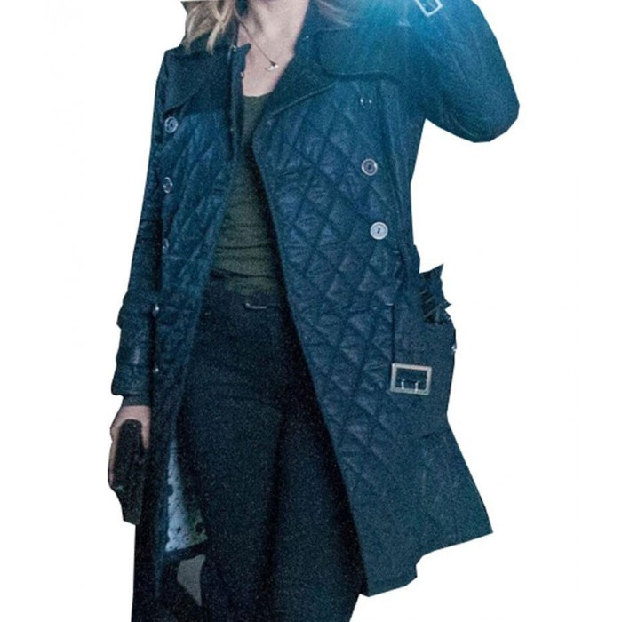 Erin Lindsay Chicago P.d Blue Quilted Coat