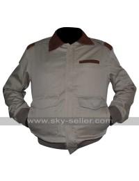 A2 Flight Cotton Cockpit Pilot Bomber Leather Collar Jacket