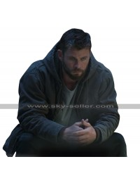 Chris Hemsworth Avengers Endgame Thor Grey Cotton Hoodie Jacket