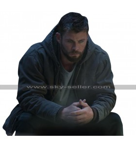 Chris Hemsworth Avengers Endgame Thor Grey Cotton Hoodie Jacket