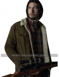 BlacKkKlansman Adam Driver (Flip Zimmerman) Fur Shearling Cotton Jacket