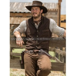 Chris Pratt Magnificent Seven Josh Faraday Brown Vest