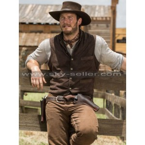 Chris Pratt Magnificent Seven Josh Faraday Brown Vest