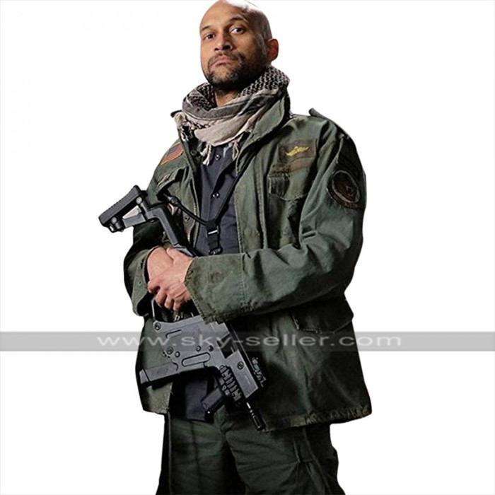 The Predator Keegan Michael Key (Coyle) Green Cotton Jacket
