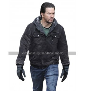 Mark Wahlberg Daddys Home 2 Dusty Hoodie Black Cotton Jacket
