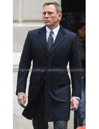 Daniel Craig Spectre 007 Blue Formal Coat