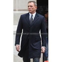 Daniel Craig Spectre 007 Blue Formal Coat