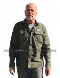 Bruce Willis Glass 2019 David Dunn Green Cotton Jacket