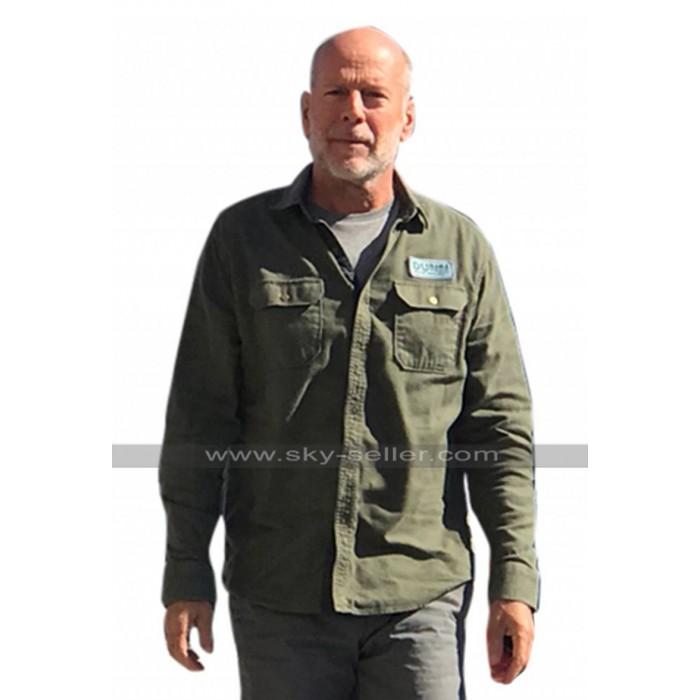 Bruce Willis Glass 2019 David Dunn Green Cotton Jacket