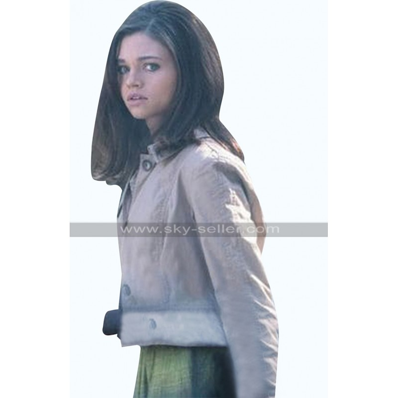 Fauna Hodel I Am the Night India Eisley Beige Cotton Jacket