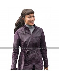 Hannah John-Kamen Ready Player One F'Nale Zandor Purple Cotton Jacket