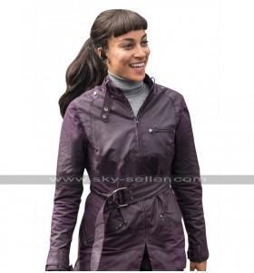 Hannah John-Kamen Ready Player One F'Nale Zandor Purple Cotton Jacket