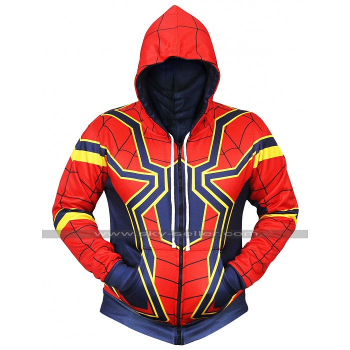Avengers Infinity War Iron Spiderman Hoodie Costume Cotton Jacket
