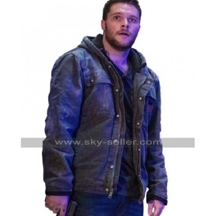 Kin Jack Reynor (Jimmy Solinski) Grey Cotton Hoodie Jacket