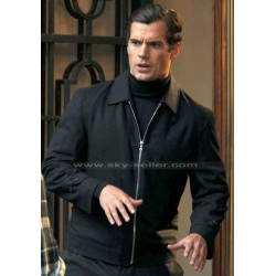 Man from Uncle Henry Cavill (Napoleon Solo) Black Jacket