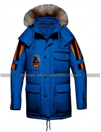 Star Wars Empire Strikes Back Blue Parka Jacket Hoodie Cotton Coat