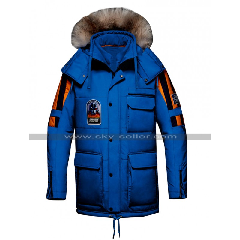 Star Wars Empire Strikes Back Blue Parka Jacket Hoodie Cotton Coat