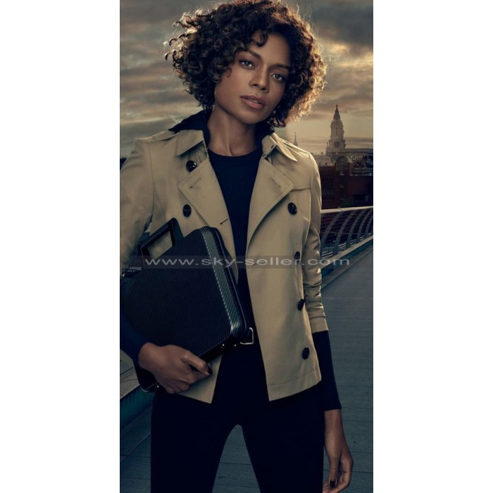 Moneypenny Spectre Beige Double Breasted Jacket