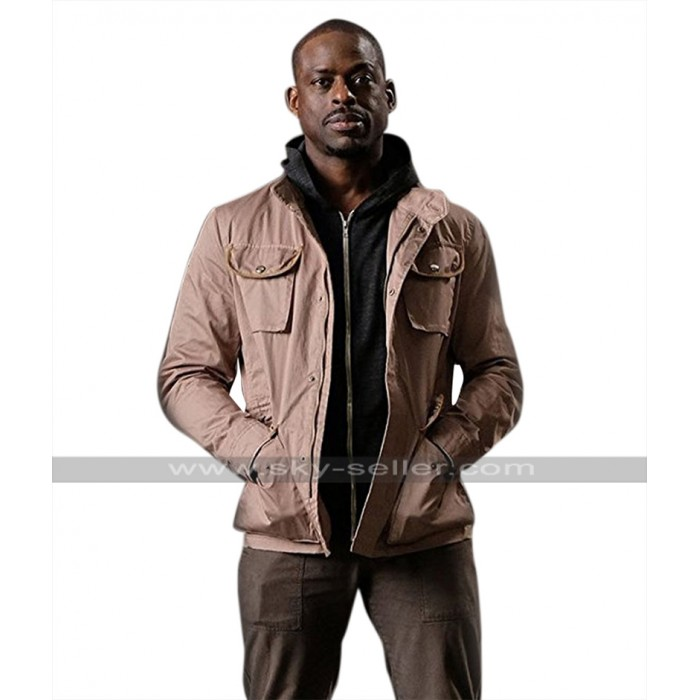 The Predator Sterling K Brown (Will Traeger) Brown Cotton Jacket