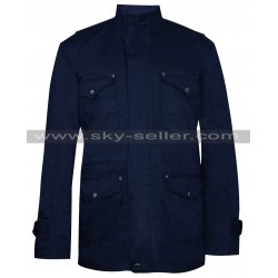 Supernatural S9 Dean Winchester Blue Cotton Jacket