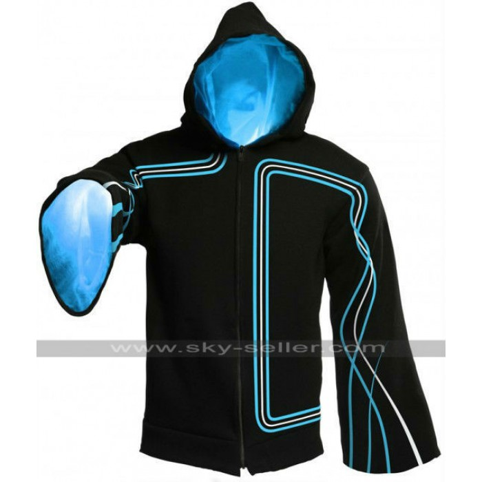 The Technomancer Light Up Black Electronic Hoodie