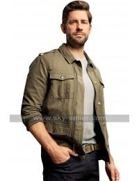 Tom Clancy's Jack Ryan John Krasinski Shirt Collar Cotton Jacket