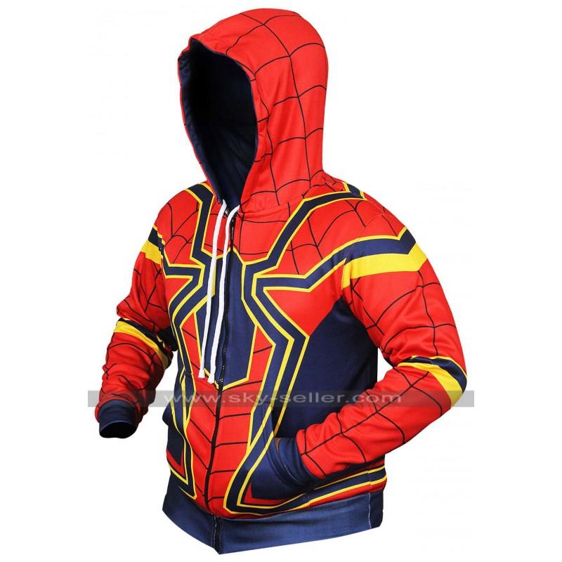 2cd9115d Avengers Infinity War Iron Spiderman Hoodie Costume Cotton Jacket