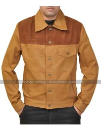 Walking Dead S3 Rick Grimes (Andrew Lincoln) Brown Suede Jacket