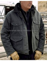 Yellowstone Jhon Ductton Cotton Grey Jacket