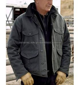 Yellowstone Jhon Ductton Cotton Grey Jacket