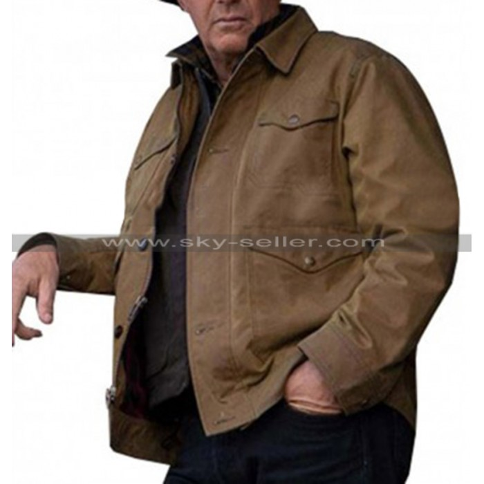 Jhon Dutton Brown Jacket Inspired Yellowstone Kevin Costume