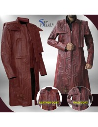 Guardians of the Galaxy Vol 2 Avengers Peter Quill Leather Coat
