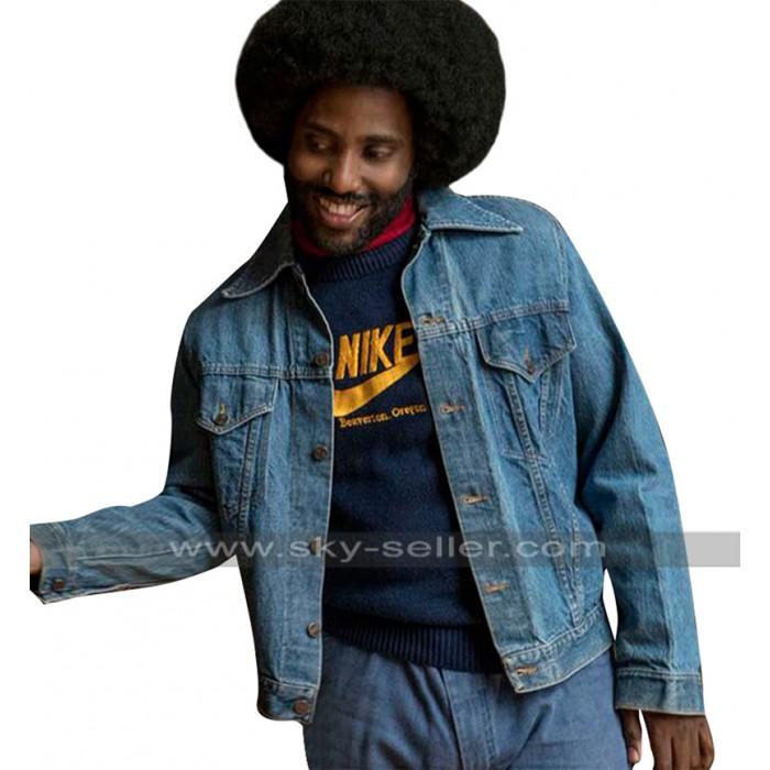 BlacKkKlansman John David Washington (Ron Stallworth) Blue Denim Jacket