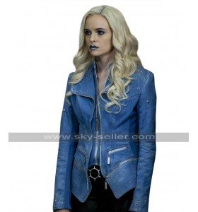 Killer Frost The Flash Season 4 Caitlin Snow Blue Costume Denim Jacket