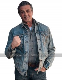 Rambo V Last Blood 2019 Sylvester Stallone Blue Denim Jacket