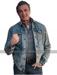 Rambo V Last Blood 2019 Sylvester Stallone Blue Denim Jacket