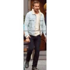 Nice Guys Ryan Gosling Denim Inner Fur Blue Jacket