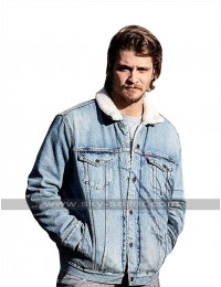 Yellowstone Kayce Dutton (Luke Grimes) Fur Collar Denim Jacket