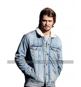 Yellowstone Kayce Dutton (Luke Grimes) Fur Collar Denim Jacket