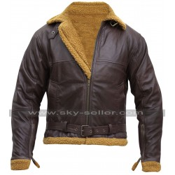 B3 Ginger Aviator Shearling Sheepskin Bomber Jacket