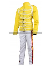 Freddie Mercury Queen Tribute Wembley Concert Yellow Cotton Costume Jacket