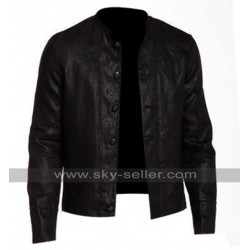 The Officer Star USA Black Leather Jacket