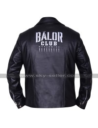 WWE Wrestler Finn Balor Club Black Biker Leather Jacket