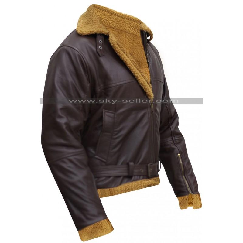 Ginger Aviator Shearling Sheepskin Bomber Jacket
