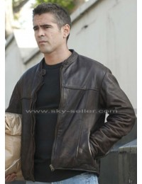 Colin Farrell London Boulevard Mitchel Distressed Brown Biker Jacket